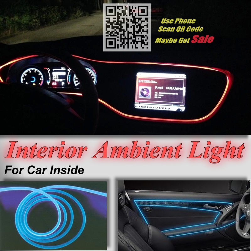 For Dodge Super Bee Car Interior Ambient Light Panel illumination For Car Inside Cool Tuning Strip Refit Light Optic Fiber Band(China (Mainland))