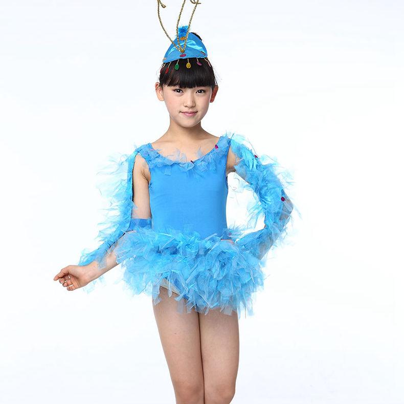 #3502 Kids dance costumes Summer dress 2016 Latin dance dress Dancing dress kids Girls ballerina dress(China (Mainland))