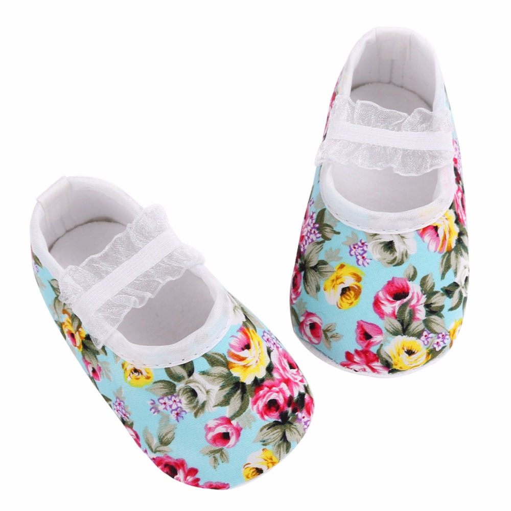 Soft Sole Newborn Baby Girl Shoes First Walker;Floral Sapato Infantil Menina Anti-slip Chaussure Bebe Fille Photography Props(China (Mainland))