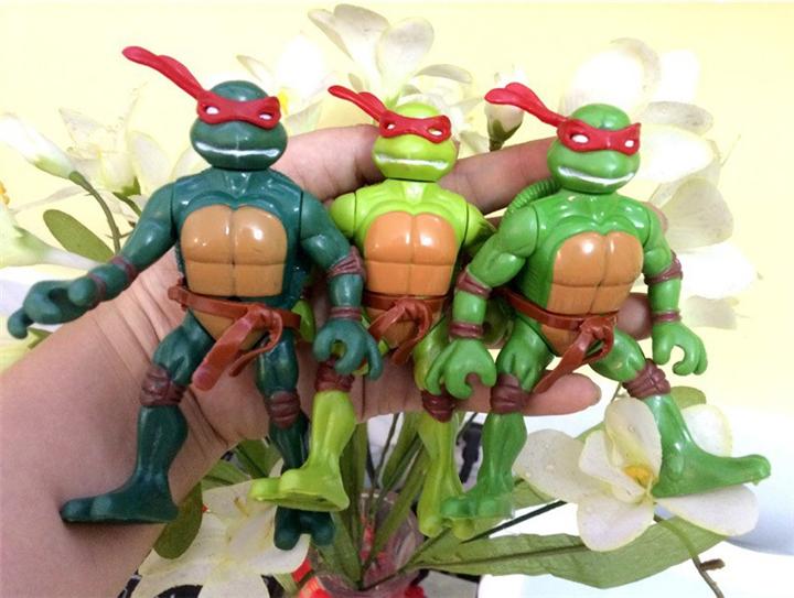 4 pcs/set 2015 New TMNT Toys Anime Cartoon TMNT Teenage Mutant Ninja Turtles PVC Action Figures Toys Boys Toys Birthday Gifts(China (Mainland))