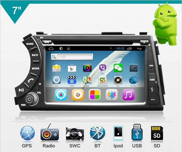 2 din Android 4.2.2 Car PC for Ssangyong Actyon Kyron,Korando,built in GPS+Wifi+Bluetooth+Dual core 2GB CPU+free shipping(China (Mainland))