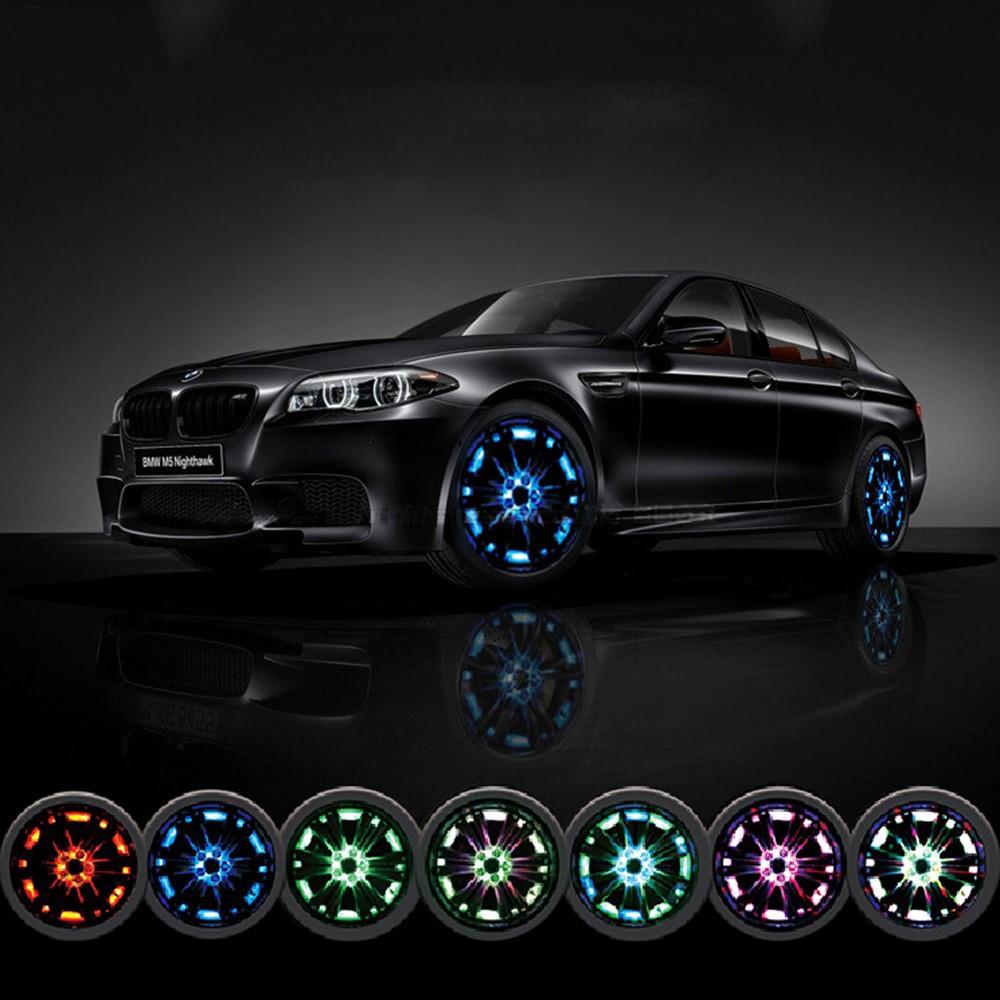 4 Mode 16 LED Car Auto Neon Solar Energy Flash Wheel Tire Lights  Flashing Lamp Decoration