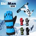 Winter New Fleeces Thicken Men s PU Stitching Waterproof Warm Gloves Ski Snowboard Gloves Motorcycle Gloves