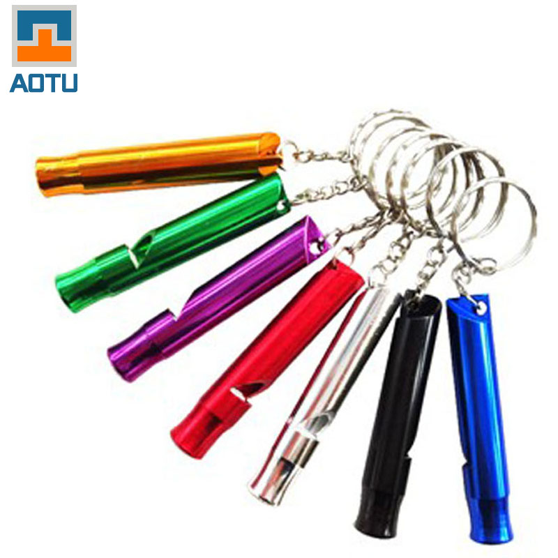 Oversized outdoor Aluminum Alloy lifeguard whistle signal whistle whistle camping tour pal necessary for help(China (Mainland))