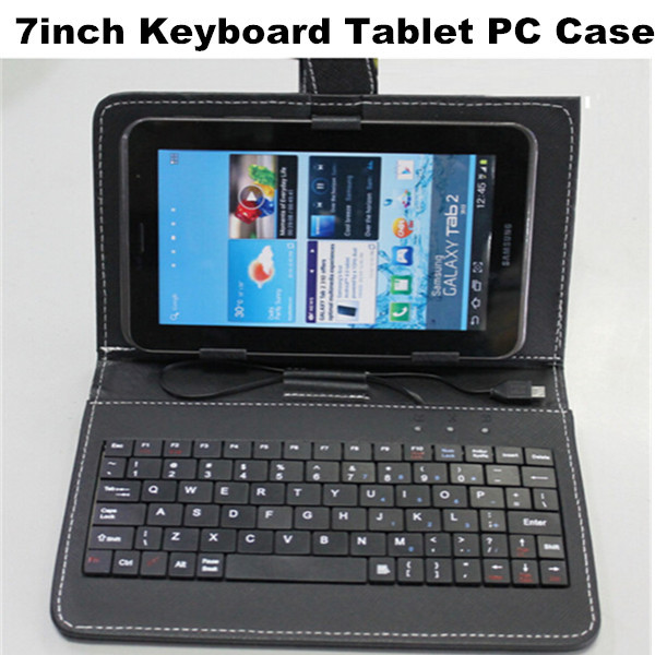 Manufacturers Selling 7 inch Tablet Computer Keyboard Holster Universal Stand Leather Case(China (Mainland))