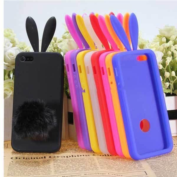 Cabotdeal Cute Rabito Bunny Rabbit Soft TPU Back Skin Cover Case For iPhone5(China (Mainland))