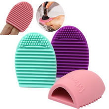 Hot Brushegg Clean brushes Makeup Wash Brush Silica Glove Scrubber Board Cosmetic Cleaning Tools Made beauty for makeup brushes
