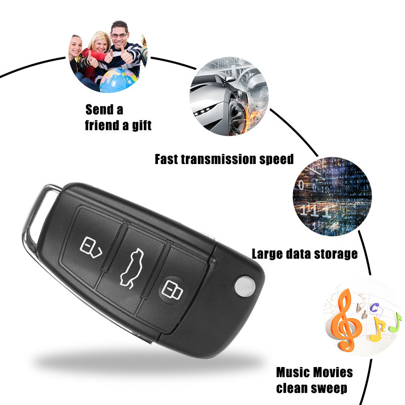Audi Car Key USB Flash Drive Pendrive 8GB 16G 32G Memory Stick Pen Drive U Disk for Popular Gift Real Capacity Free Shipping(China (Mainland))