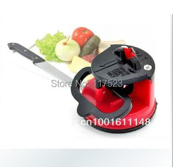 Free Shipping Home kitchen tungsten steel knife sharpener with a sucker