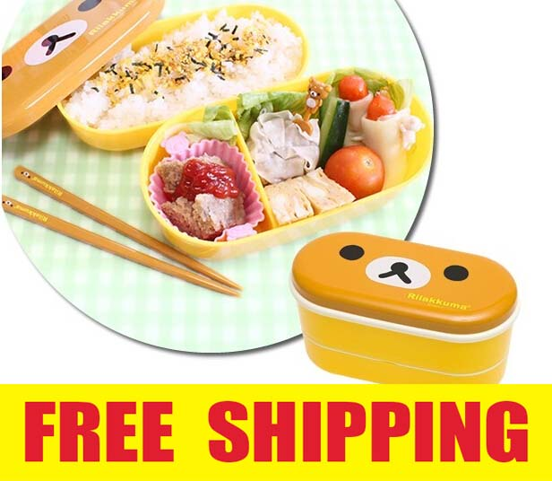 Bear Chicken Cartoon Portable Plastic Food Storage Box Kids Thermal Insulated Food Container Bento Lunch Box Tableware(China (Mainland))