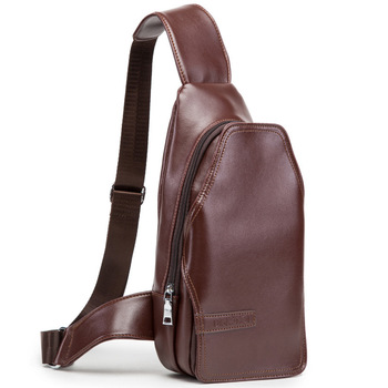 2015 free shipping Unisex Casual Men Messenger Bags Brand leather Sport bags Single Shoulder Chest Bag mens travel bags MB01