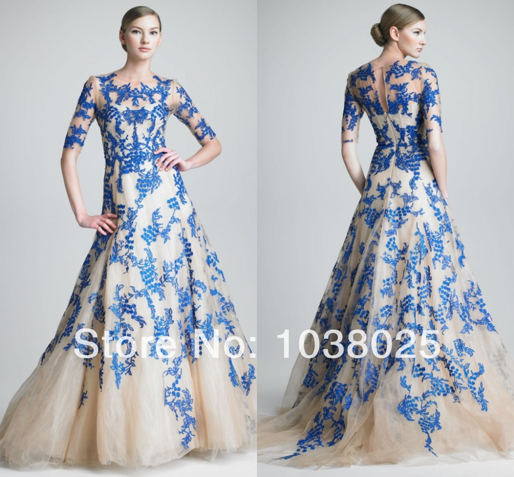 Awesome Monique Lhuillier Evening Gown Festooning - Wedding and ...