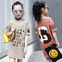 Buy summer 2017 kids dresses girls short sleeve t shirts clothes children letter character t shirts dress girl top kids clothes for $15.59 in AliExpress store