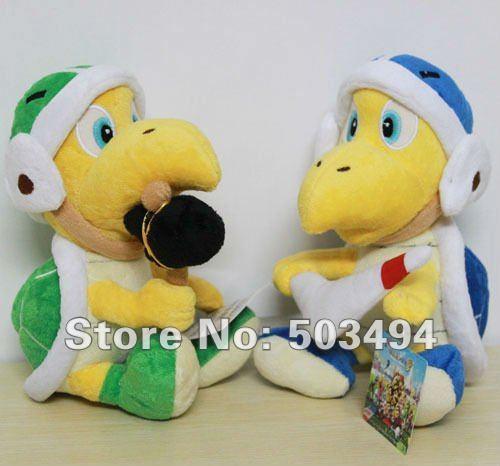 Free Shipping Super Mario Brothers Plush Toy 2X Koopa Troopa Hammer & Boomerang 8''/ 20cm Boomerang plush toy 2PCS in set