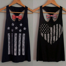 Womens Summer Vest Top Sleeveless Blouse Casual Black Sexy Tank Tops Backless Bow(China (Mainland))
