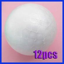12 Pcs 7cm Modelling Polystyrene Styrofoam Foam Ball Spheres Decoration Crafts New DIY(China (Mainland))