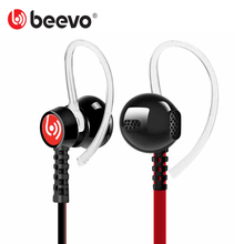 Beevo EM300 Stereo Sport Earphones with Detachable Ear Hook MIC Volume Control Running Headphone Noise Reduction HIFI Earphone(China (Mainland))