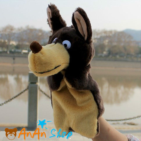 NEW CUTE ANIMAL DOLL 10 INCH PLUSH WOLF HAND PUPPET SOFT TOY BIRTHDAY CHRISTMAS BABY GIFT FOR KIDS - AnAn Shop store