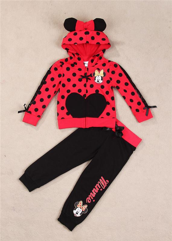 New spring autumn Boys Minnie Suit children s sports set baby boys girls clothing sets Hoodies