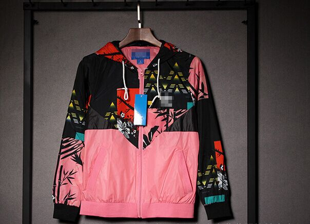 2016 Women Champions Hoodie Sport Tracksuit pullover jackets floral block sunscreen multi color top(China (Mainland))