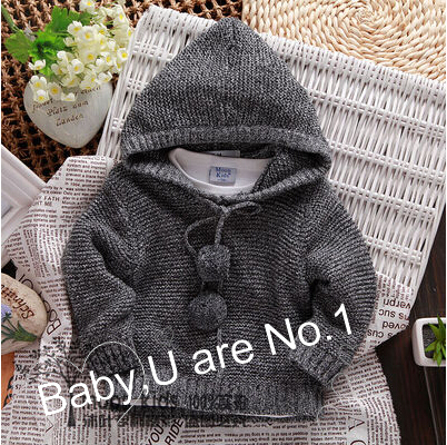 2015 child clothing boys pullover sweater hooded sweater cotton 100% baby sweater infant knitted wear roupas infantis menino(China (Mainland))