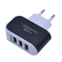 Best Price 3.1A Triple USB Port Wall Home Travel AC Charger Adapter For iPhone smart phones S6 EU Plug(China (Mainland))