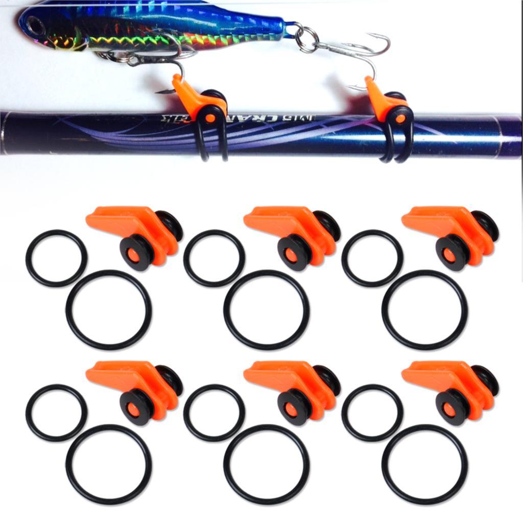 6pcs/set New Orange Plastic Fishing Rod Pole Hook Keeper Lures Spoon Bait Treble Holder Small Fishing Tool Accessories<br><br>Aliexpress