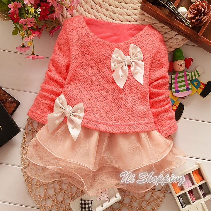 summer style Baby Girls Princess Toddlers Lace Bowknot Party Dresses Kids Flower Dress clothes SV007016(China (Mainland))(China (Mainland))