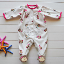 Retail carters baby romper soft and warm polar fleece infant overall newborn jumpsuit girls clothing size 3M 6M(China (Mainland))