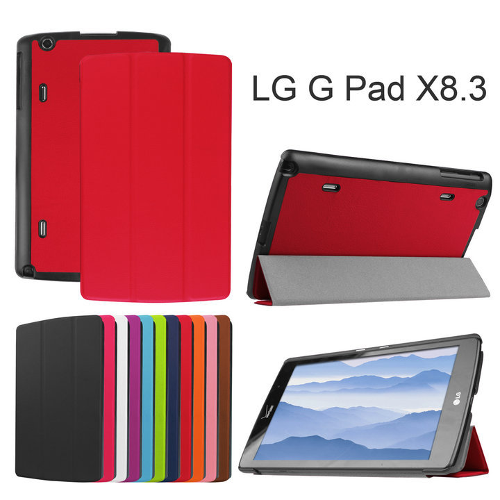 case For LG GPAD G PAD X 8.3 PU Leather Cover Stand Case funda for LG G PAD X 8.3 Tablet case 5pcs(China (Mainland))