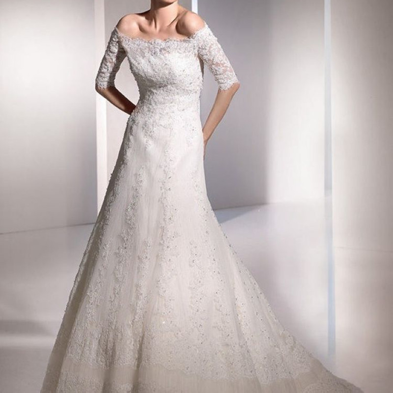 2015explodes the popular wedding dress strapless gown with contracted fashion show thin fishtail wedding dress 247(China (Mainland))