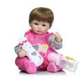 New 42 silicone reborn dolls bebe gift toys Cotton Body Lifelike reborn Babies Toys brinquedo menina