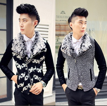 2015 new Spring and autumn men's fashion slim outerwear jacket Casual men's clothing cardigan clothes / M-XXL(China (Mainland))