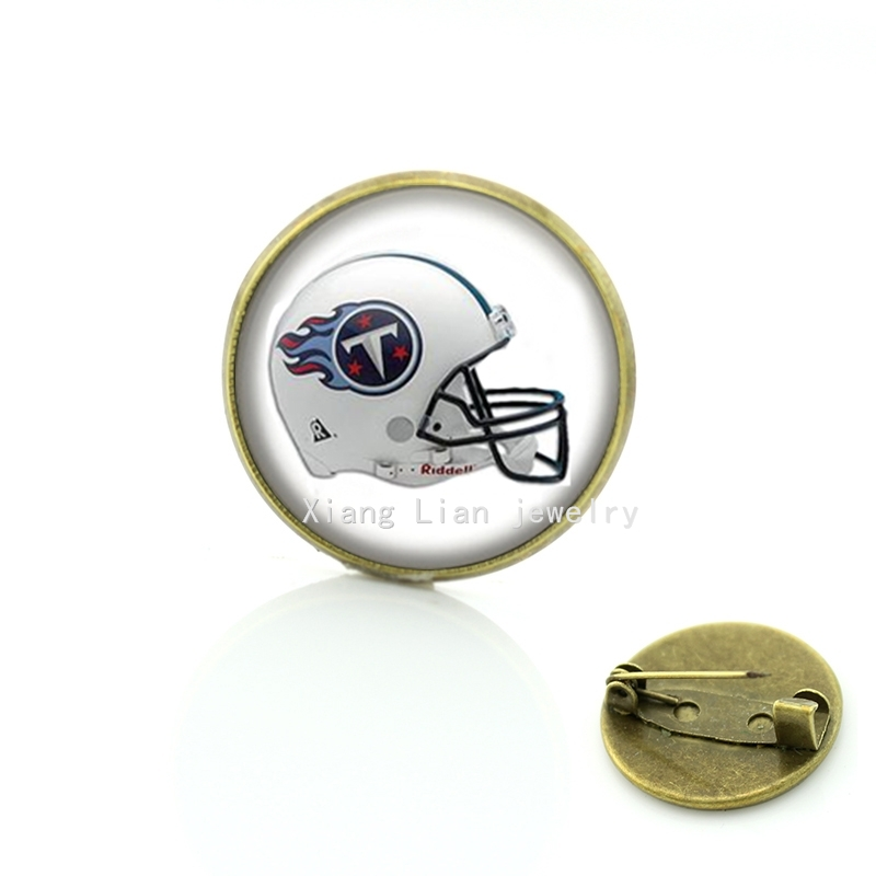 Wedding hand accessory modern white brooch Tennessee Titans Football team helmets NFL team jewelry gift for women girls NF114(China (Mainland))