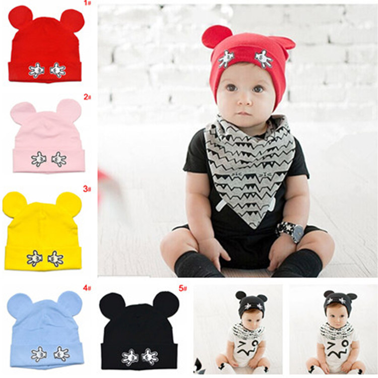 5colors Baby Girl Cotton Beanies Cartoon Designs Infant Kids Spring Autumn Hat Cap Boy Girl Photo Props 1pc MZC-15119(China (Mainland))