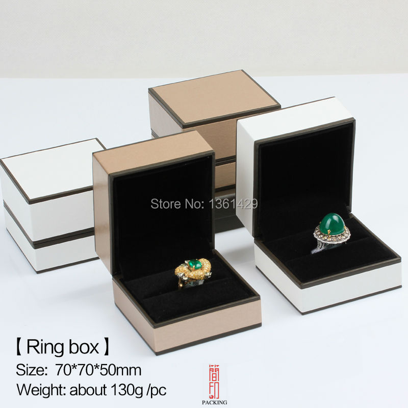 Proposed new product features golden gift box, ring box, jewelry box white ring box(China (Mainland))