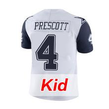 Men's #4 Dak Prescott #21 Ezekiel Elliott #88 Dez Bryant #82 Jason Witten White Color Rush Limited youth kid Adult(China (Mainland))