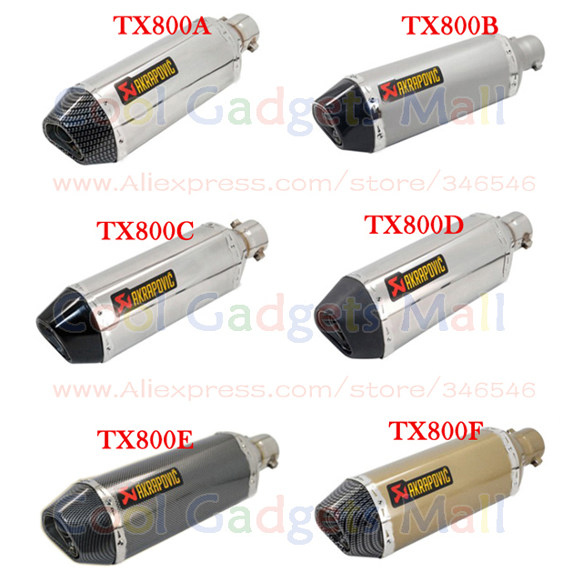 Motorcycle Modified Exhaust Scooter Muffler Akrapovic Exhaust For CBR CBR125 CBR250 CB400 CB600 YZF FZ400 Z750