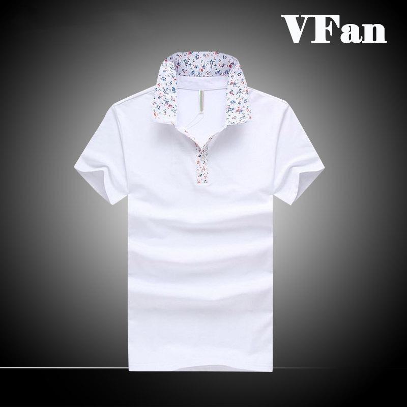 Men Camisa Polo Masculina Floral Collar Solid Shirt New Brand Short Sleeve Slim Fit Youth Sport Man Stylish Designer Hot F1290(China (Mainland))