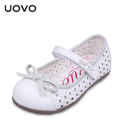 Uovo Brand Girls Pretty Dress Shoes Comfortable Spring Summer Casual Leather Shoe Kids Glitter Silver Princess Sandals 25-33