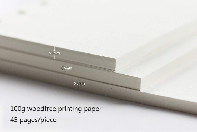 A5 A6 A7 Woodfree Printing Paper Planner Inner Pages For Filofax Creative Office Notebook Spiral Filler Papers Binder Inner Page