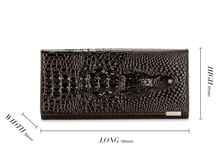 2015 New 100 Genuine good leather brand women wallets 14colors Crocodile 3D purse wholesale fashion leather