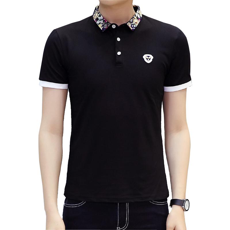 2016 New Brand Floral Collar Men POLO Shirts Summer Style Fashion Casual Solid Polo Shirt Short Sleeve Mens Shirts Camisas Polos(China (Mainland))