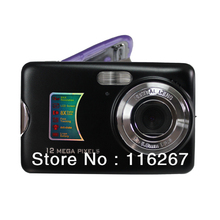 Free shipping 12MP optical zoom digital camera 3XOptical zoom 2.4''Screen Lithium rechargable battery AC Charger(China (Mainland))