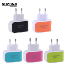 Buy Candy Color 5V 3.1A US EU Plug 3 Ports USB Wall Home Travel AC Charger Adapter iPhone 5s 6s 7 Samsung S6 S7 Huawei for $1.41 in AliExpress store