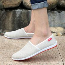 Breathable Man Hemp Summer Flat Shoes Eu 39-44 Fashion Outdoor Style Light & Soft Men Casual & Sport Sneakers(China (Mainland))