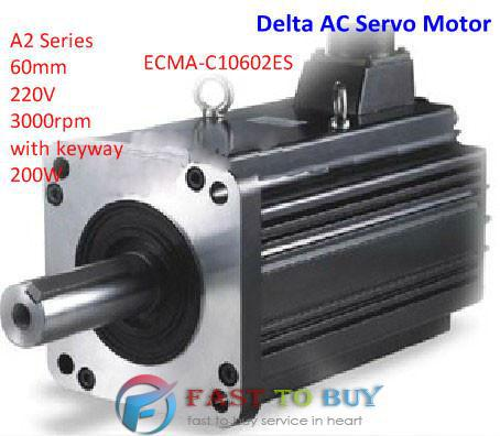 Delta AC Servo Motor A2 Series ECMA-C10602ES 60mm 220V 3000rpm with keyway 200W New(China (Mainland))