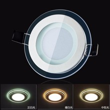 2015 Dimmable 6W 12W 18W LED Panel Downlight Square Glass Cover Lights High Bright Ceiling Recessed Lamps 10pcs/lot(China (Mainland))
