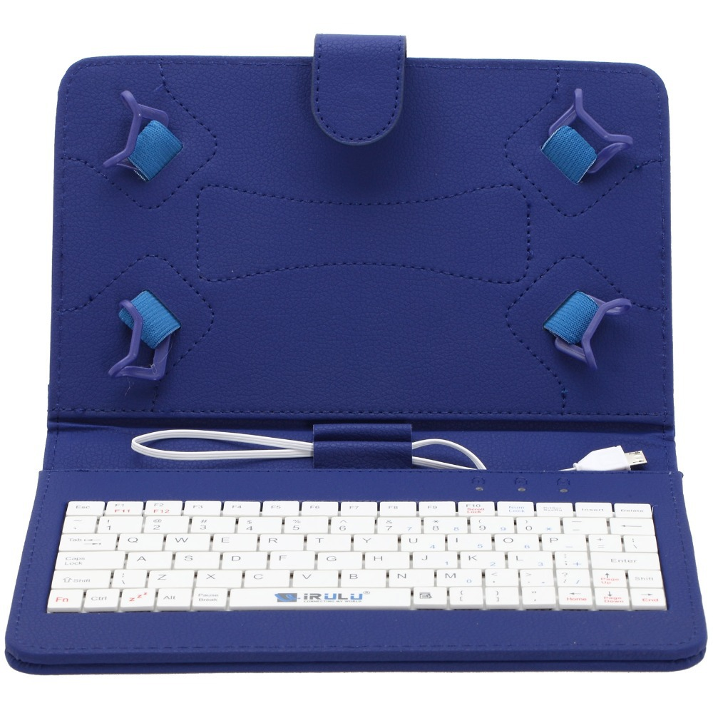 "7"" Tablet PC Case High end Best quality Best Folding Folio Keyboard Leather Case PU Leather Cover(China (Mainland))"