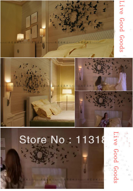 11 colors Hotsale Fashion 3D stereo size 5.8cm home wall stickers living room decal wall art butterfly wall stickers
